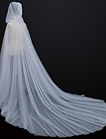 cheap -Sleeveless Elegant Tulle Wedding Party Women's Wrap With Solid