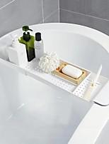 cheap -Retractable shelf plastic bathtub storage rack bathroom drain rack bathtub tray kitchen bathroom organizer storage accessories