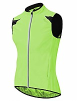 cheap -bpbtti men's cycling running vest sleevless windbreaker with two side pockets(2.0) - windproof, breathable and reflective (neno yellow, large)