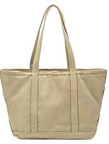 cheap -Women's Bags Canvas Tote Top Handle Bag Plain Daily Going out Canvas Bag Handbags Khaki Light Green Beige