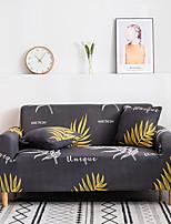 cheap -Sofa Cover Furniture Protector Soft Stretch Spandex  Fabric Gray Leaf