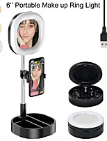 "cheap -6"" LED Ring Light Dimmable LED With Phone Holder Height AdjustableForPhotography Tiktok Youtube Video Makeup Live Streaming Selfie Video Shotting"