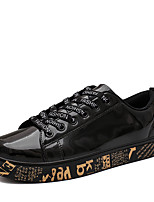 cheap -Men's Sneakers Casual Classic Preppy Daily Office & Career PU Black Gold Silver Spring Summer