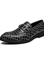 cheap -Men's Loafers & Slip-Ons Dress Loafers Penny Loafers Casual Classic Daily Office & Career PU Non-slipping Wear Proof Black Fall Winter