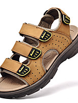 cheap -Men's Sandals Classic Beach Daily Outdoor Nappa Leather Breathable Non-slipping Wear Proof Black Brown Spring Summer