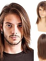 cheap -Men's Curly Hair Long Wig Dark Gradient Brown Halloween Makeup Wig