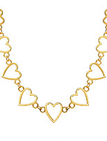 cheap -Women's Choker Necklace Chunky Heart Simple European Sweet Alloy Gold Silver 20-30 cm Necklace Jewelry 1pc For Street Prom Birthday Party Festival
