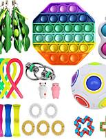cheap -25 pcs Fidget Sensory Toy Set Stress Relief Toys Autism Anxiety Relief Stress Pop Bubble Fidget Sensory Toy For Kids Adults