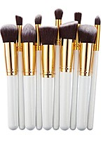 cheap -professional salon cosmetics makeup foundadtion blending brushes set 10 pcs (platinum)