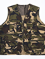 cheap -Men's Hiking Vest / Gilet Fishing Vest Sleeveless Vest / Gilet Jacket Top Outdoor Quick Dry Lightweight Breathable Sweat wicking Autumn / Fall Spring Summer Camouflage Hunting Fishing Climbing