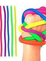 cheap -6pcs Soft Rubber Noodle Elastic Rope Toys Stretch String Decompression Toy Stretchy String Fidget Toys