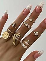 cheap -beryuan statement snake ring gold ring set women white gem stone mid finger ring gift for her gift for girls teens (9pcs)