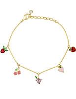 cheap -zirconium cherry peach tropical fruit bracelet bracelet female