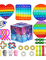 cheap -27 pcs Sensory Fidget Toys Set Pop Bubble Soybean Squeeze Stress Relief Balls with Fidget Hand Toys for Kids Adults Calming Toys for ADHD Autism Anxiety Relief