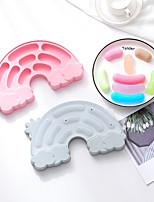 cheap -Sausage Kitchen Mold Food Mould 2 Piece Rainbow Sausages Steaming Sausages Bowel Abrasive Silicone for Children Baby Lunch