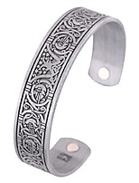 cheap -fishhook norse viking tree of life raven crow health magnet bangle irish knotwork cuff bracelet for women men