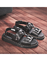 cheap -Unisex Sandals Beach Daily Water Shoes Nappa Leather Breathable Non-slipping Wear Proof Black Summer