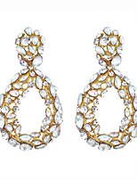 cheap -Women's Hoop Earrings Geometrical Drop Stylish Trendy Earrings Jewelry Gold For Party Wedding 1 Pair