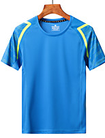 cheap -Men's T shirt Hiking Tee shirt Short Sleeve Tee Tshirt Top Outdoor UV Sun Protection Quick Dry Lightweight Breathable Autumn / Fall Spring Summer fluorescent green Color blue White Hunting Fishing