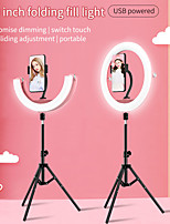 "cheap -10"" LED Ring Light Dimmable LED with Tripod Stand With Phone Holder 3 Color Lighting Modes for Photography Tiktok Youtube Video Makeup Live Streaming"
