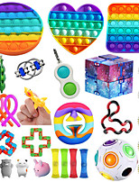 cheap -Squishy Toy Sensory Fidget Toy Stress Reliever 31 pcs Mini Creative Stress and Anxiety Relief Decompression Toys Slow Rising Plastic Metal For Kid's Adults' Men and Women Boys and Girls Gift