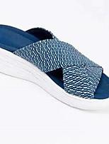 cheap -Women's Sandals Flat Heel Round Toe PU Black Blue Green
