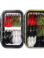 cheap -30/32 pcs Fishing Lures Flies Sinking Bass Trout Pike Sea Fishing Fly Fishing Freshwater Fishing