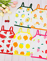 cheap -Dog Cat Vest Fruit Adorable Cute Dailywear Casual / Daily Dog Clothes Puppy Clothes Dog Outfits Breathable Yellow Red Pink Costume for Girl and Boy Dog Padded Fabric XS S M L XL XXL