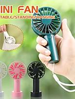 cheap -Mini Fan Natural Wind Silent Portable Handheld Office Desk Base Fan Outdoor Portable Pocket USB Charging Electric Fan