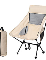 cheap -Camping Chair with Side Pocket Multifunctional Portable Breathable Ultra Light (UL) Alloy for 1 person Fishing Beach Camping Autumn / Fall Winter Black Grey Khaki