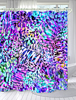 cheap -Colored Leaves Digital Printing Shower Curtain Shower Curtains Hooks Modern Polyester New Design