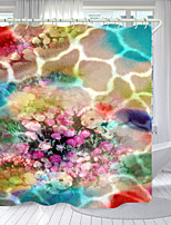 cheap -Colored Roses Digital Printing Shower Curtain Shower Curtains Hooks Modern Polyester New Design