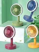 cheap -Mini Portable Desktop Fan with LED Light Handheld Electric USB rechargeable fan Appliances Desktop Air Cooler Outdoor Travel hand fan