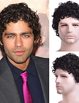 cheap -Men Short Curly Synthetic Wigs for Men's Daily Wig Male Curly Natural Hair Heat Resistant Breathable