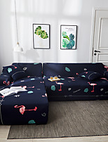 cheap -Sofa Cover Flamingo Print 1 Pc Furniture Protector Soft Stretch Slipcover Spandex Jacquard Fabric Super Fit for 14 Cushion Couch and L Shape SofaEasy to Install(1 Free Cushion Cover)