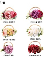 cheap -cross-border creative color simulation flower children's thin hair with high stretch nylon baby photo hair accessories baby headdress