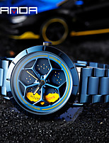cheap -sanda's new time-to-run personality watch men's wheel quartz men's watch student steel belt waterproof rotating watch