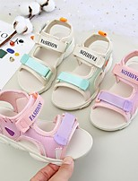cheap -Unisex Sandals Comfort Slingback Princess Shoes PU Heelys Shoes Big Kids(7years +) Sports & Outdoor Daily Home Basketball Shoes Walking Shoes Pink Beige Spring Summer / Rubber