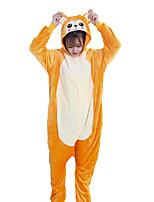 cheap -Adults' Kigurumi Pajamas Monkey Onesie Pajamas Flannelette Orange Cosplay For Men and Women Animal Sleepwear Cartoon Festival / Holiday Costumes