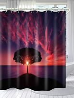 cheap -Mushroom Sky Eye Tree Digital Printing Shower Curtain Shower Curtains  Hooks Modern Polyester New Design