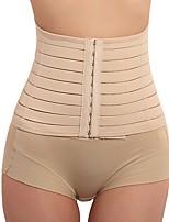 cheap -Women's Hook & Eye Underbust Corset - Curve / Fashion, Buckle Black Khaki M L XL