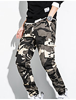 cheap -Men's Work Pants Hiking Cargo Pants Hiking Pants Trousers Camo Summer Outdoor Ripstop Quick Dry Multi Pockets Breathable Cotton Pants / Trousers Bottoms White Red Army Green Grey Khaki Work Hunting