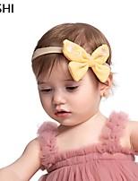 cheap -cross-border european and american multicolor fabric bowknot children's headband cute super soft nylon stretch baby photo headwear