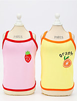 cheap -Dog Cat Vest Fruit Cute Dailywear Casual / Daily Dog Clothes Puppy Clothes Dog Outfits Breathable Red Pink Orange Costume for Girl and Boy Dog Padded Fabric XS S M L XL XXL