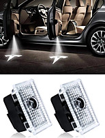 cheap -OTOLAMPARA 2pcs Cool LED Door Welcome Laser Light For Tesla Model 3 Model S Model X Projector Logo Ghost Shadow Lights