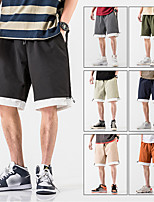 "cheap -Men's Hiking Shorts Hiking Cargo Shorts Patchwork Summer Outdoor 12"" Loose Quick Dry Breathable Comfortable Wear Resistance Shorts Bottoms Light Yellow Black Army Green Grey Orange Hunting Fishing"