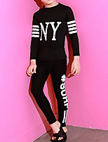 cheap -Boys' Girls' Rash Guard Dive Skin Suit Nylon Swimwear UV Sun Protection Quick Dry Full Body 2 Piece - Swimming Surfing Snorkeling Stripes Autumn / Fall Spring Summer / Kid's