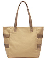 cheap -Women's Bags Canvas Tote Top Handle Bag Zipper Solid Colored Daily Going out Canvas Bag Handbags White Black Khaki