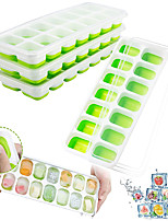 cheap -Ice Cube Silicone Trays with Lid 4 Packs Stackable Ice Trays with 56 Nugget Cubes BPA Free Flexible Durable Dishwasher Safe Summer Cooling Kit