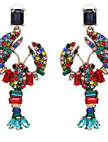 cheap -Women's Stud Earrings Animal Cartoon Trendy Imitation Diamond Earrings Jewelry Rainbow color / White For Festival 1 Pair